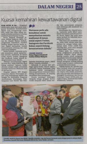 Utusan Malaysia, Selasa 19 Jan 2016