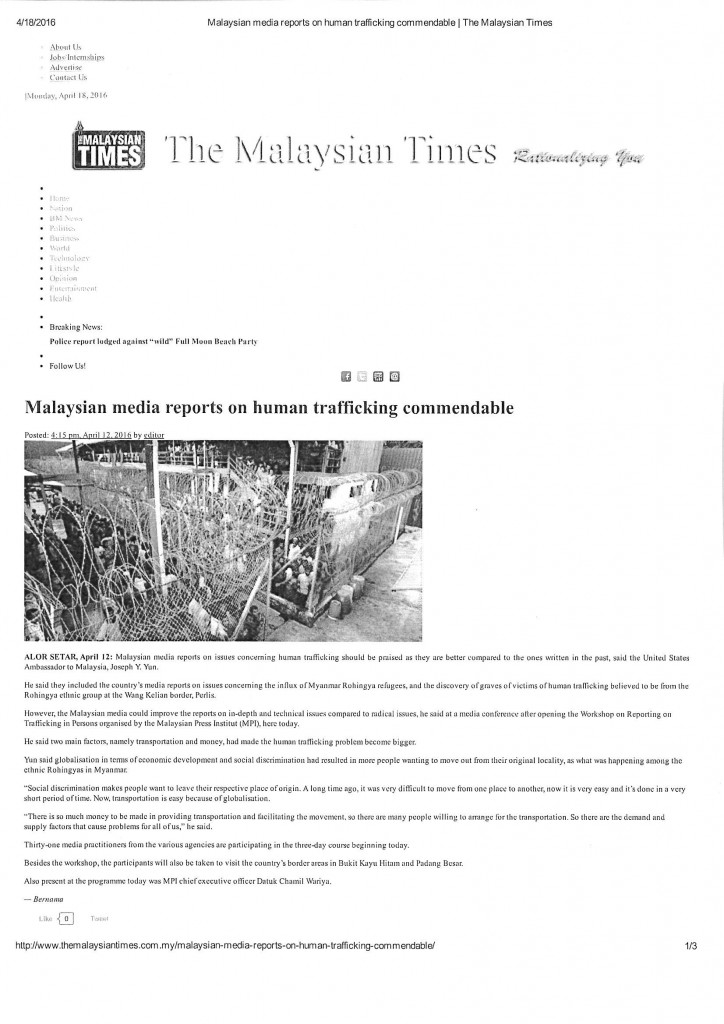 14. The Malaysian Times - 12 April 2016