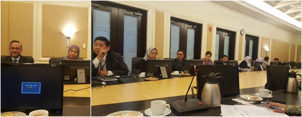 2. Barisan kepimpinan Pejabat Ketua Pendaftar Mahkamah Persekutuan yang turut hadir pada perbincangan dari kiri Datuk Haji Aslam Zainuddin (Pendaftar Mahkamah Tinggi Melayu); Puan Sabariah Othman (Timbalan Ketua Pendaftar II –Operasi); Tuan Azhaniz Teh Azman Teh (Pengarah Bahagian Perancangan Strategik, Inovasi, Naziran dan Korporat); Puan Junaidah Nor Wan Idris (Pengarah Bahagian Latihan dan Pembangunan Kapasiti Kehakiman) dan para pegawai yang lain.