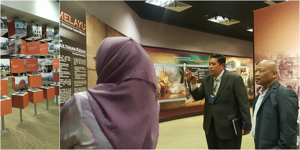 3. Rombongan MPI turut dibawa melawat ke Muzium Mahkamah yang terletak di aras lobi di dalam bangunan Istana Kehakiman sambil diberi penjelasan oleh Tuan Azhaniz.