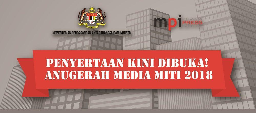 MITI perkenal Anugerah Media MITI 2018